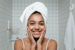 black woman with beautiful clear skin