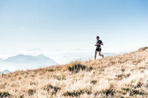 man running on hill